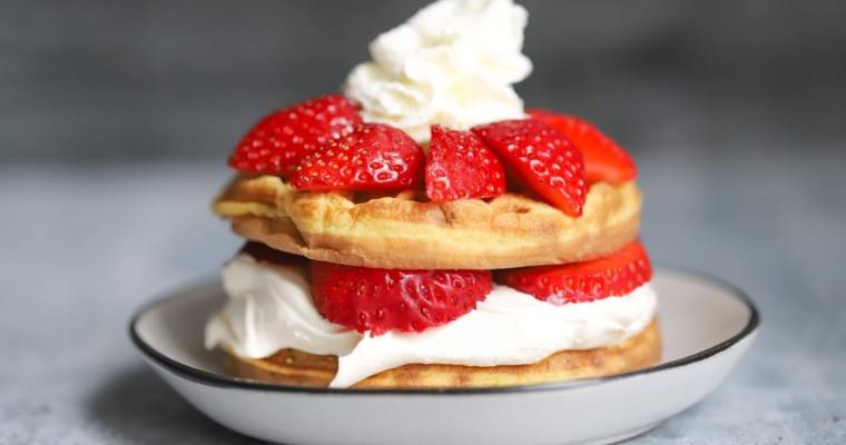 Keto Strawberry Shortcake Chaffle