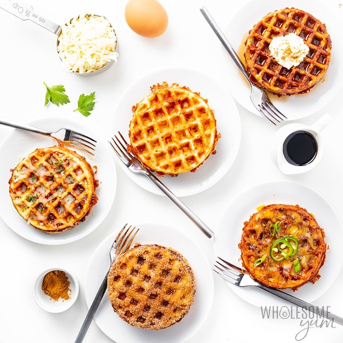 Keto Chaffles Recipe (5 Ways!) + Ultimate Guide