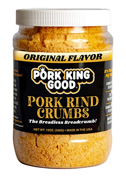 Pork King Good Pork Rind Breadcrumbs! Perfect For Ketogenic, Paleo, Gluten-Free, Sugar Free