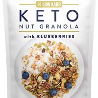 Keto Blueberry Nut Granola Healthy Breakfast Cereal 3g Net Carbs - Almonds, Pecans, Coconut and more