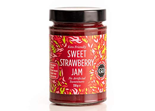 Sweet Strawberry Jam by Good Good -  Keto Friendly No Added Sugar Strawberry Jam