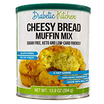 Diabetic Kitchen Cheesy Bread Muffin Low-Carb, Keto-Friendly, Sugar-Free, Gluten-Free