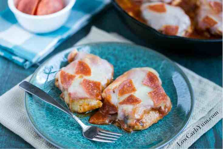 Easy Low Carb Pizza Chicken Skillet