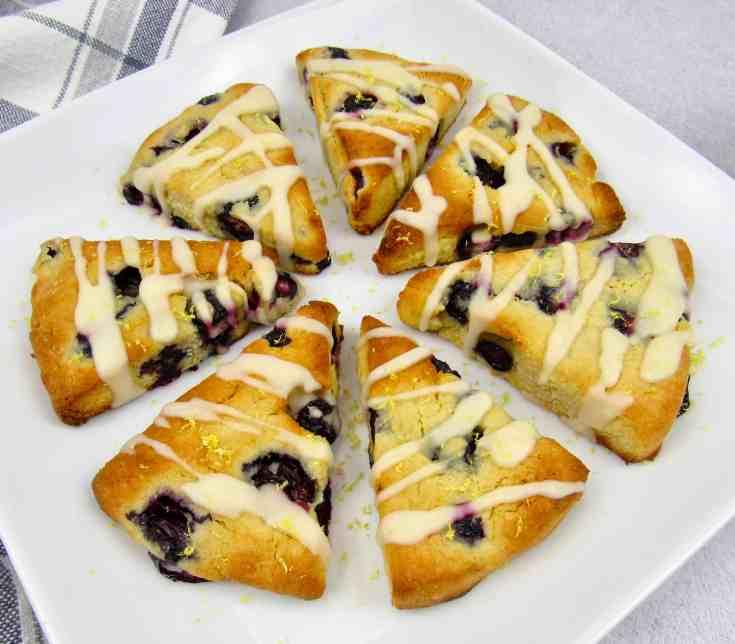 Keto Blueberry Lemon Scones - Low Carb/Gluten-Free