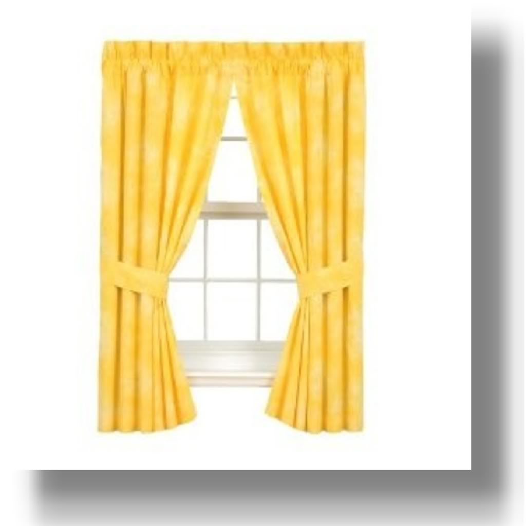 yellow and red kitchen curtains paint cabinets white accessories buungi