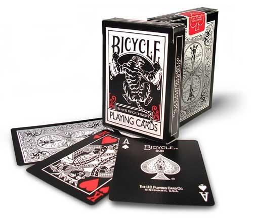 Bicycle Black Tigers Red