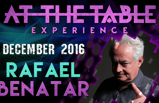 At The Table Live Lecture Rafael Benatar December 7th 2016