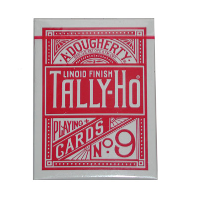 Cards Tally Ho Fan Back (Red)
