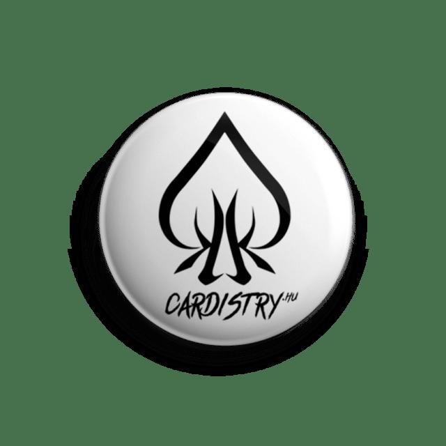 Cardistry White kitűző