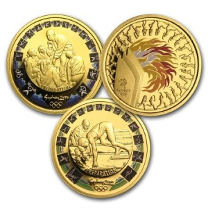 commemorative Olympic gold coins Sydney 2000