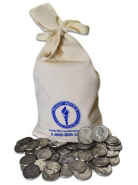 You can buy junk silver coins by the bagful