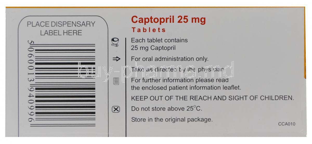 Buy Captopril ( Generic Capoten ) Online