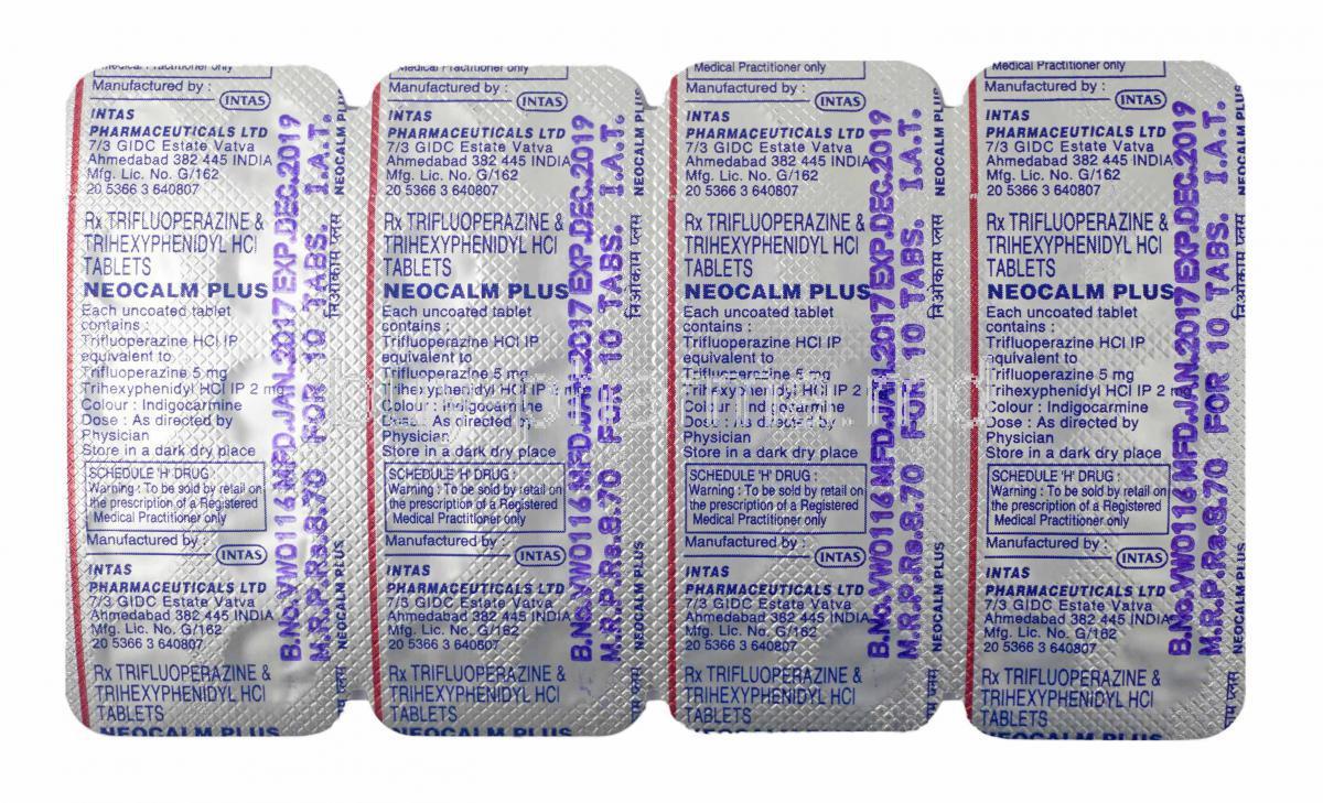 Buy Neocalm Plus Trifluoperazine/ Trihexyphenidyl ...