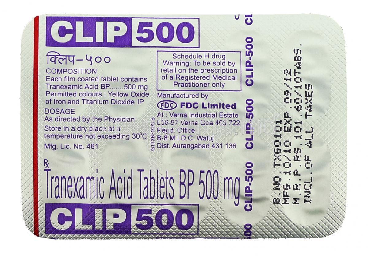 Buy Tranexamic Acid ( Generic Cyklokapron ) Online
