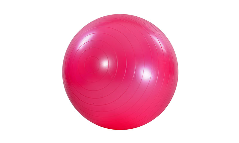 pink smooth PVC yoga ball