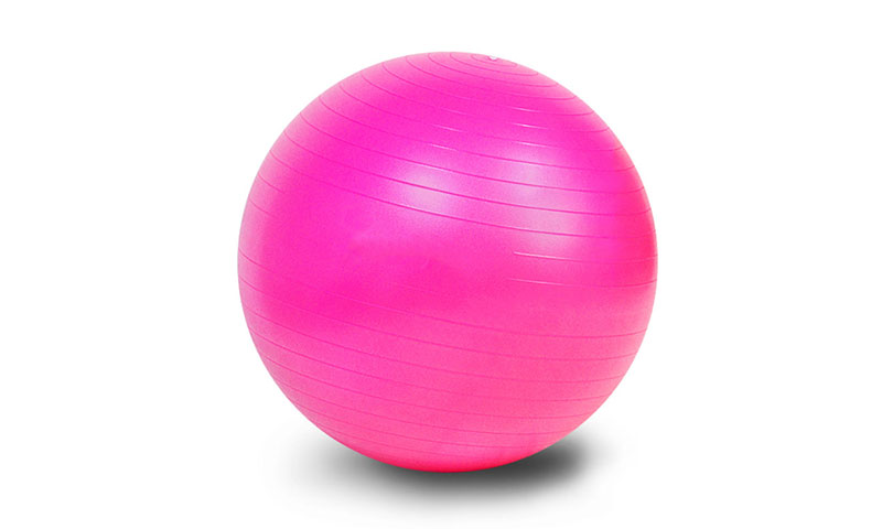 rose red PVC scrub yoga ball