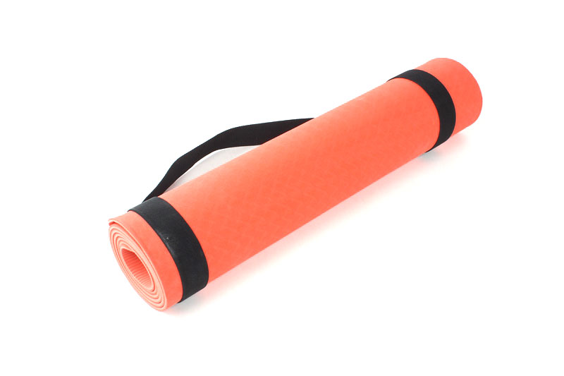 orange double layer TPE yoga mat