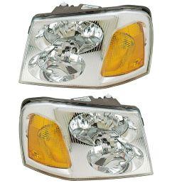 2006 gmc envoy headlight assembly pair for sale [ 1000 x 1000 Pixel ]
