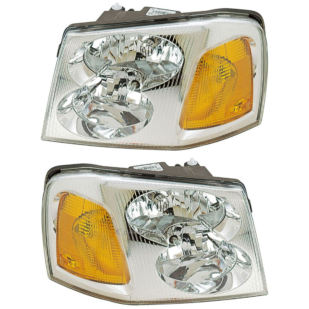 hight resolution of 2006 gmc envoy headlight assembly pair for sale