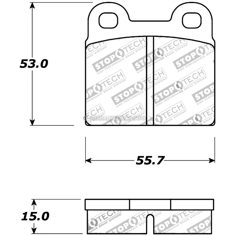 medium resolution of saab 900 brake pad set