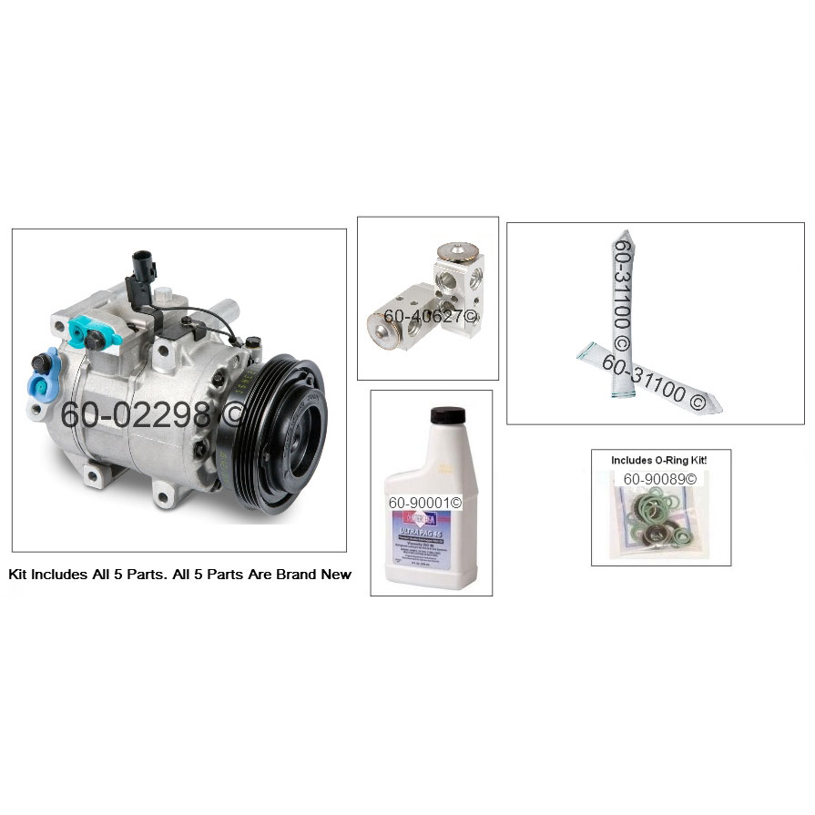 Kia Rio5 AC Compressor and Components Kit Parts, View
