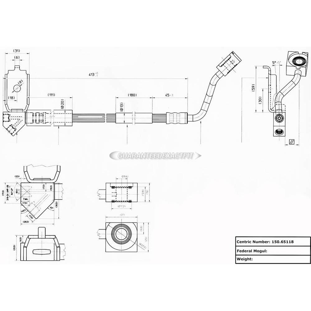 1998 Ford Ranger Brake Line Diagram