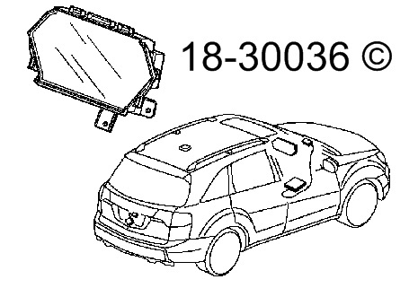 Acura MDX Center Module Screen Parts, View Online Part