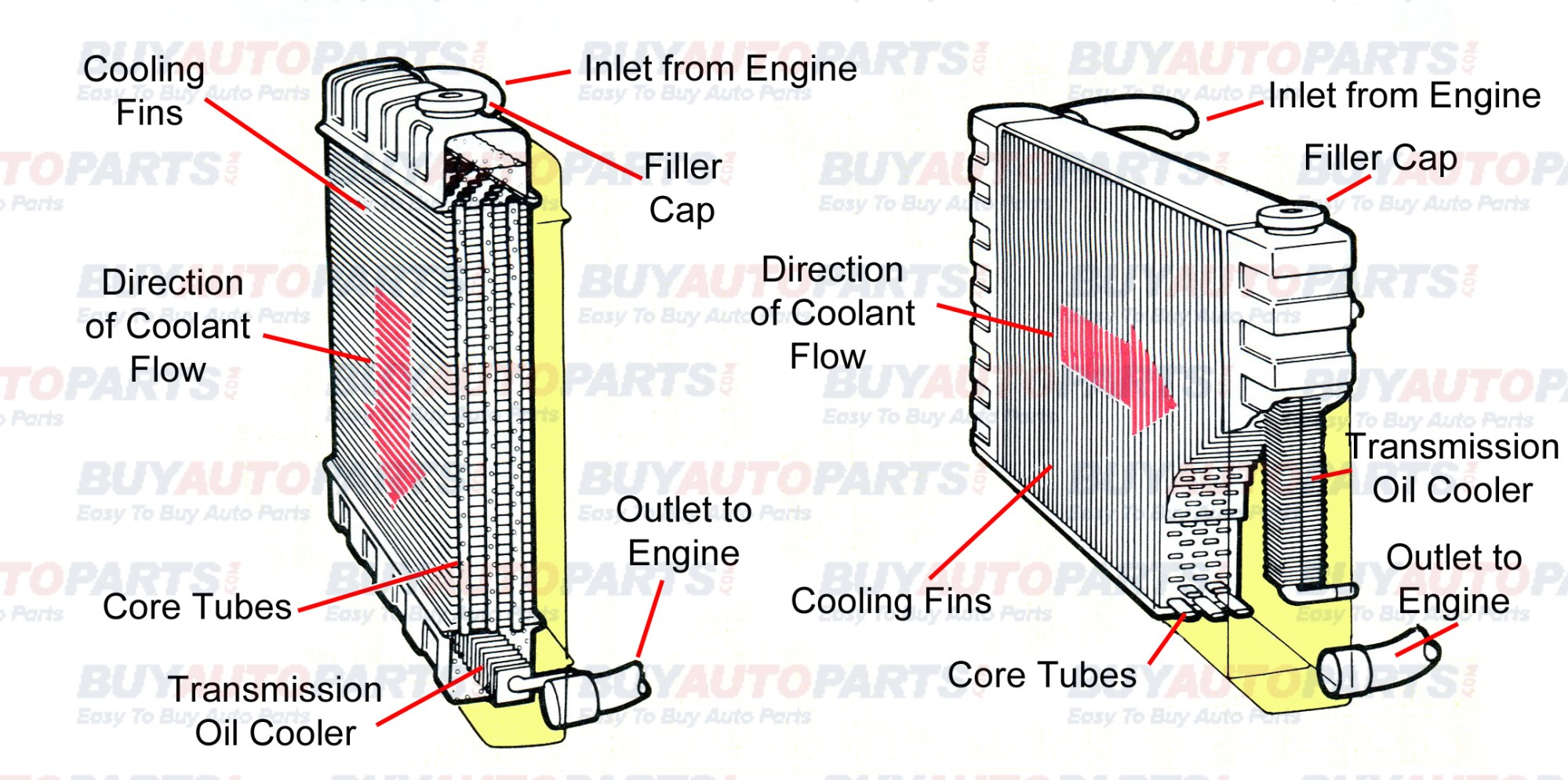 hight resolution of radiator cutaway