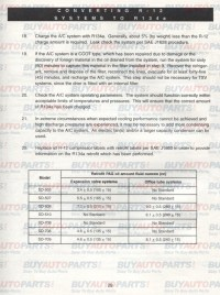 R134a Capacity Chart