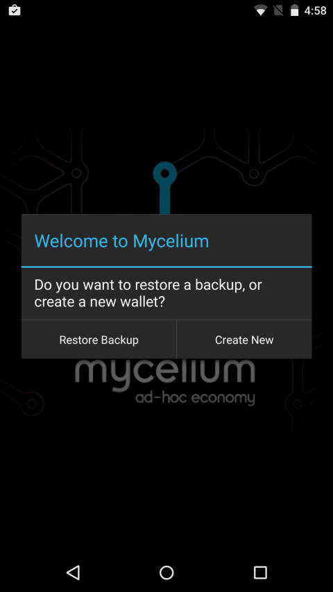 New Mycelium account