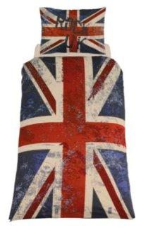 Living Rock UK Union Jack Duvet Cover Set - Single