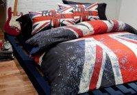 Union Jack Flag Rock UK Duvet Cover Quilt Bedding Set