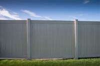 6' Tall Driftwood Smooth Vinyl Privacy Fence - Privacy ...
