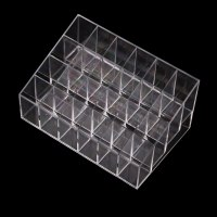 Clear Acrylic 24 Lipstick Holder Display Stand Cosmetic ...