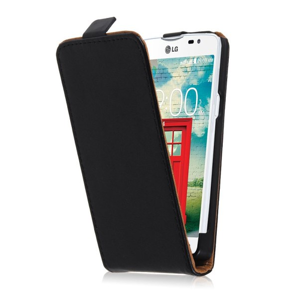 Black Leather Flip Vertical Case Cover Skin For Various