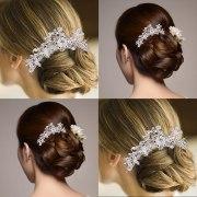 bridal wedding crystal flower