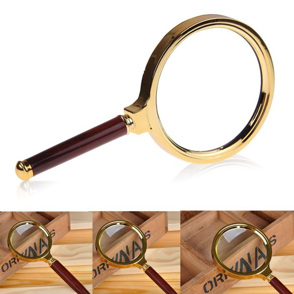 60mm 80mm 90mm Handheld 10x Magnifier Magnifying Glass Loupe Reading Jewelry