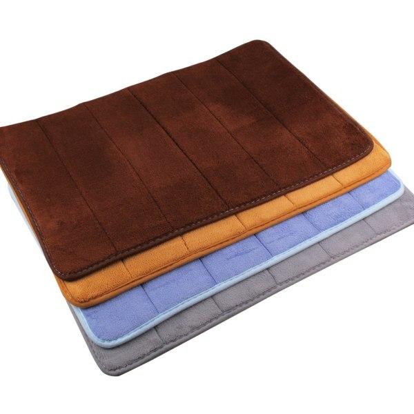 Memory Foam Bath Mat 40 60cm Absorbent Slip-resistant Pad Bathroom Mats