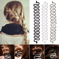 Women Fashion Hair Styling Clip Stick Bun Maker Braid Tool ...