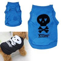 Cute Summer Cool Puppy Dog Small Dog Cat Pet Clothes Skull ...