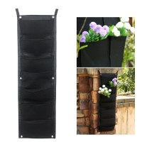 Hanging Vertical Easy Fill 7 Pockets Garden Kit Wall ...