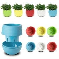 7cm Mini Round Plastic Flower Pot Plant Planter Basket ...