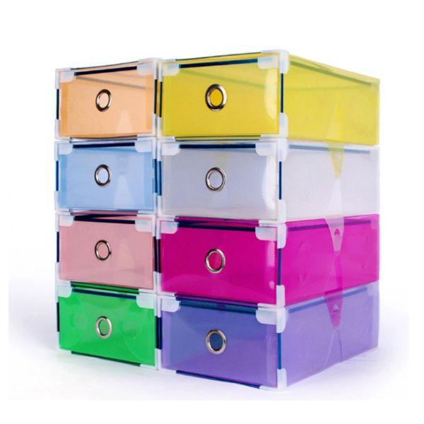 Clear Stackable Plastic Shoe Boxes Storage
