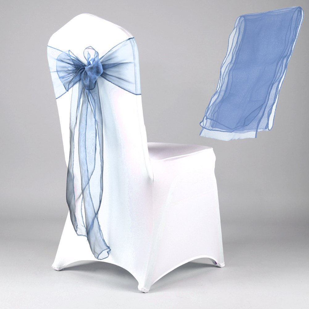 New Organza Chair Cover Sashes Wedding Party Banquet