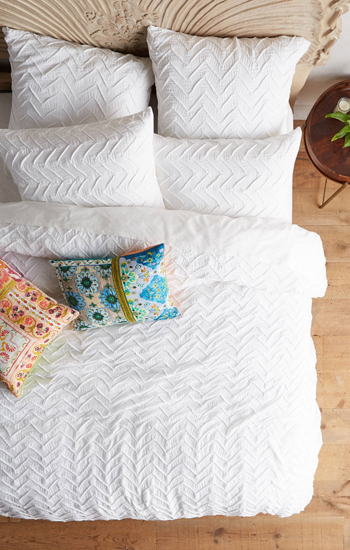 Anthropologie Textured Duvet