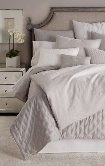 Vera Wang Textured Floral Luxury Bedding