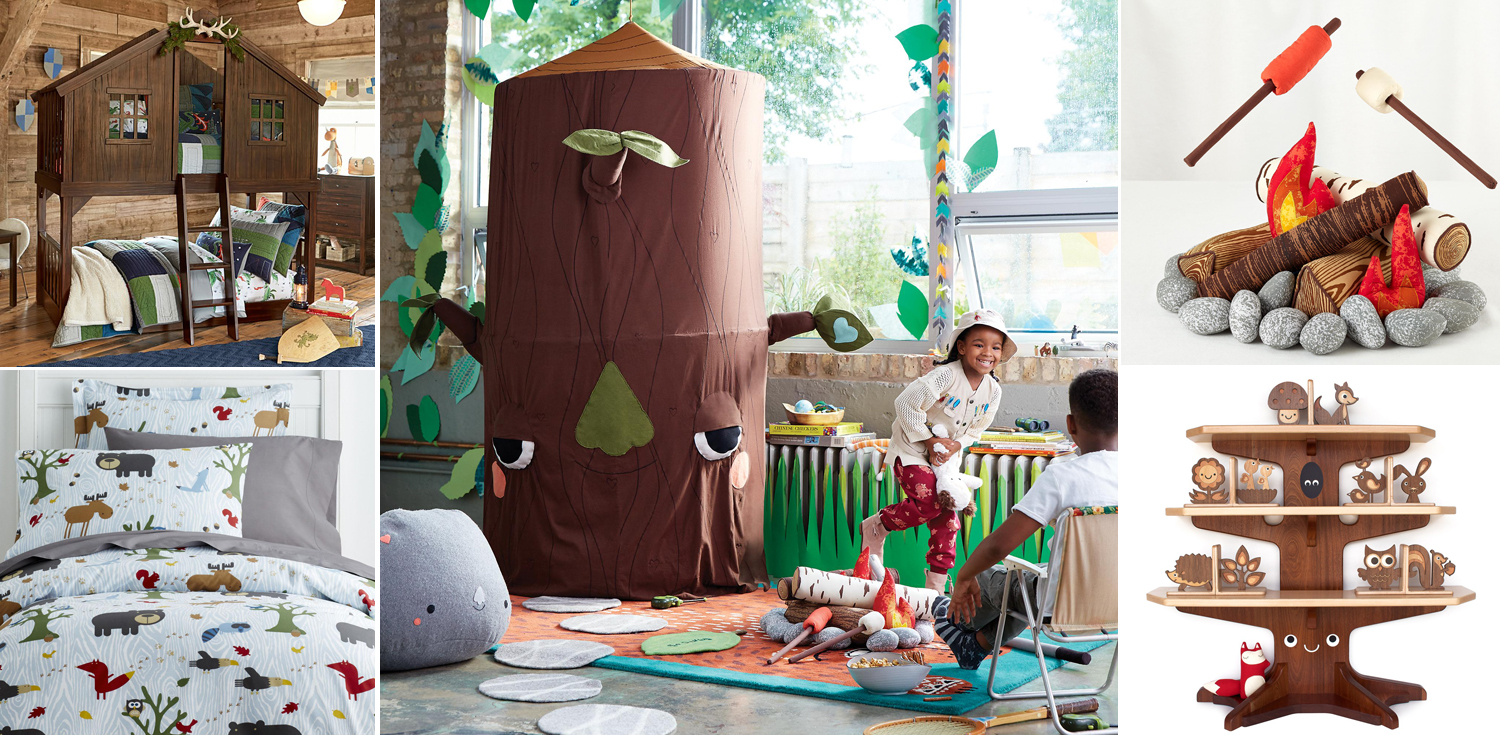 Bedroom Theme kids woodland bedroom | camping theme bedroom | woodland decor