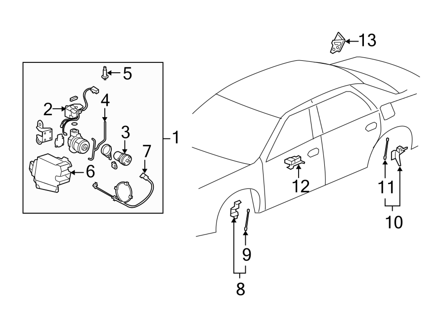 Buick Lucerne Air Suspension Compressor. CONTROL