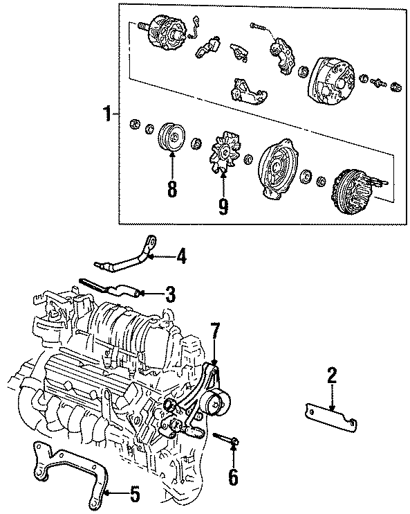 Buick Park Avenue Alternator. Amp, Supercharger, Battery
