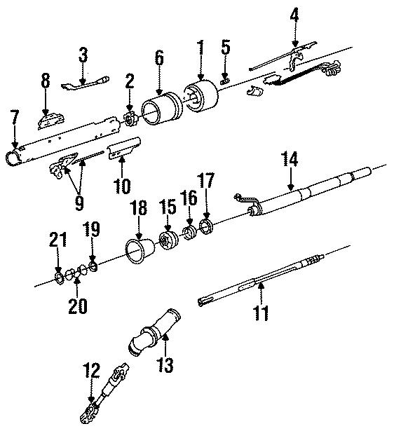 Chevrolet K20 Steering Column Bearing. TILT, WHEEL, Lower